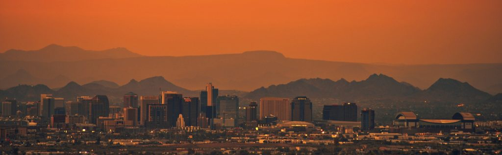 photo depicting Phoenix downtown